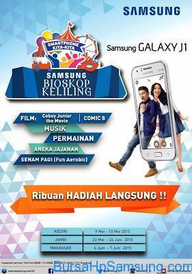 Promo Hp Samsung, samsung bioskop keliling, galaxy j1,