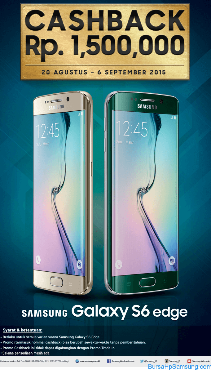 Samsung Galaxy S6 edge Cashback