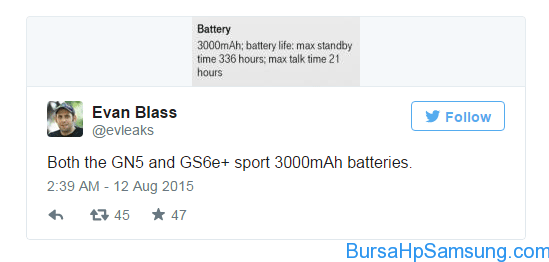 bocoran baterai galaxy note 5 dan galaxy s6 edge plus