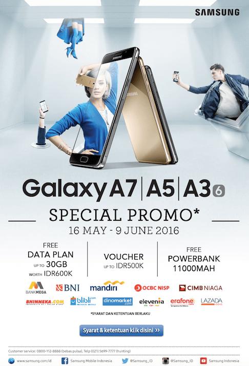 Spesial Promo Galaxy A7, A5 dan A3 2016 16 Mei - 9 Juni 2016