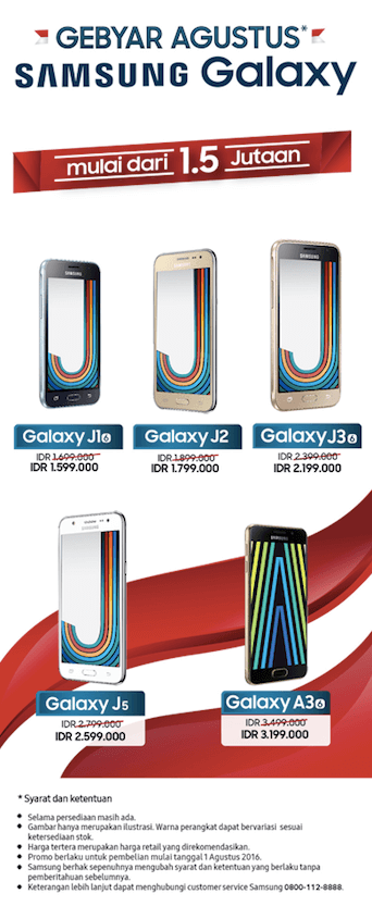 Promo Hp Samsung Gebyar Agustus