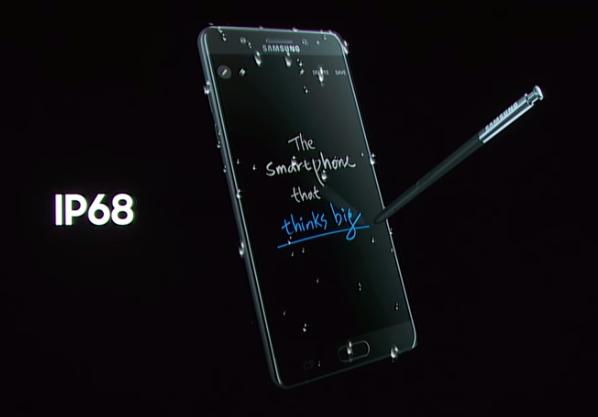 Galaxy Note 7 Tahan Air
