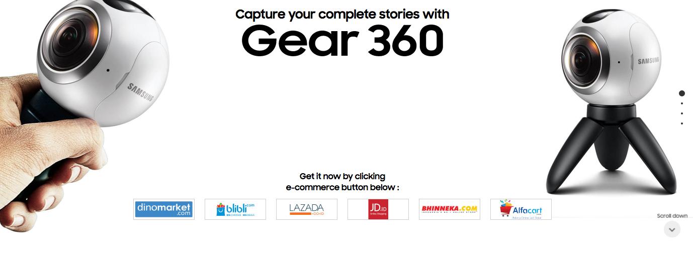 Harga Samsung Gear 360
