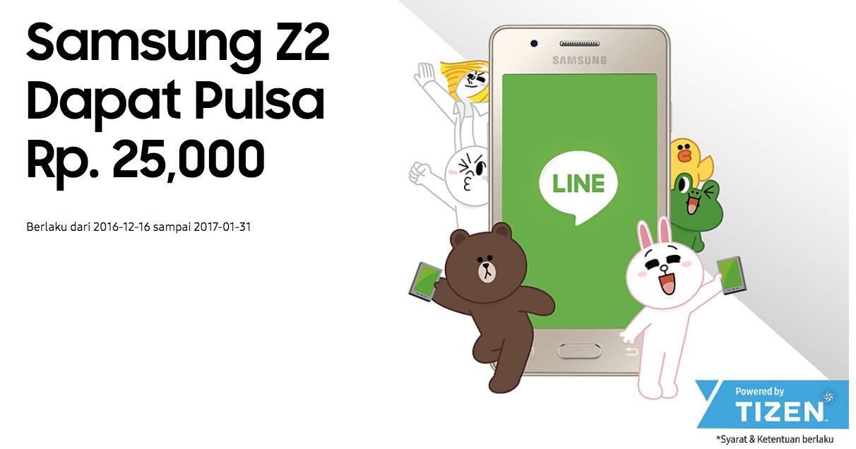 Promo Hp Samsung Z2 dan LINE