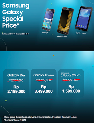 Promo Hp Samsung Program Samsung Galaxy Special Price