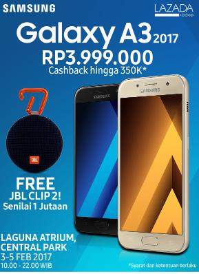 Special Promo Samsung Galaxy A Series 2017 Berhadiah Langsung JBL Clip2