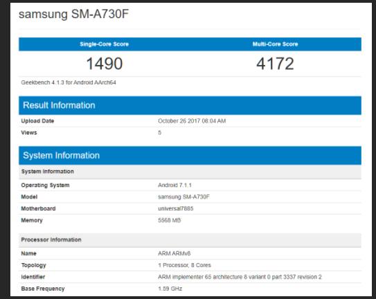 spesifikasi samsung galaxy a7 2018 akan membawa ram 6 gb