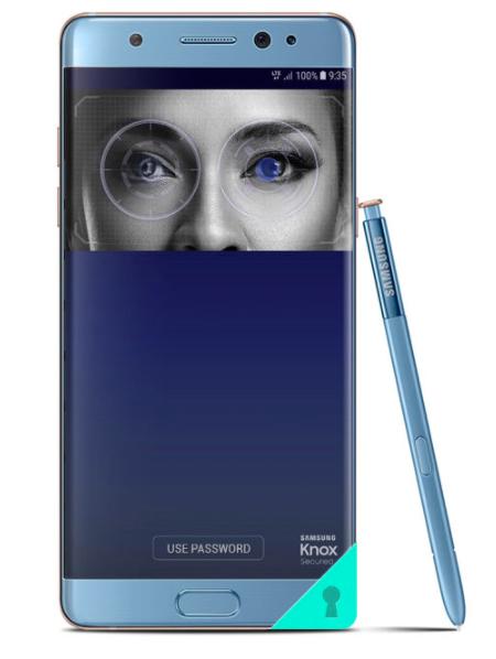 Samsung Galaxy Note FE Fitur Iris Scanner
