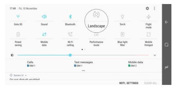 Cara Mengunci Tampilan Layar Landscape di Galaxy Note 8