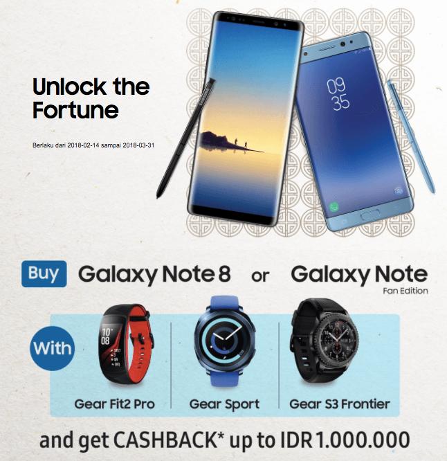"""Promo """"Unlock The Fortune"""" diselenggarakan Samsung Electronics Indonesia dari 14 Februari hingga 31 Maret 2018"""
