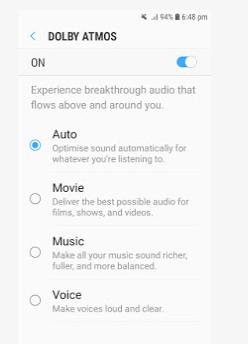 Cara mengaktifkan fungsi Dolby Atmos
