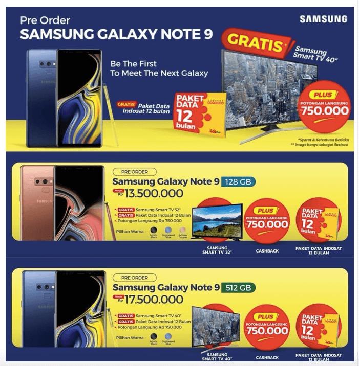 Harga Samsung Galaxy Note 9 Varian 128 GB dan 512 GB