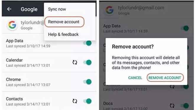Cara Hapus Akun Google