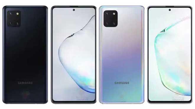 Samsung Galaxy Note10 Lite-desain