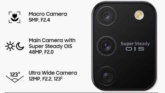 Kamera Galaxy S10 Lite