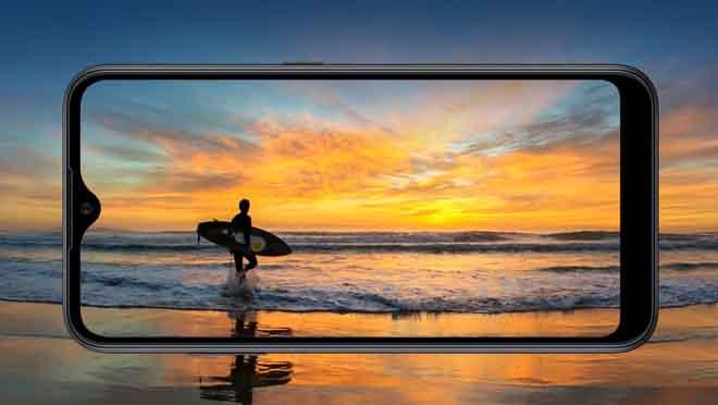Layar Samsung Galaxy A01