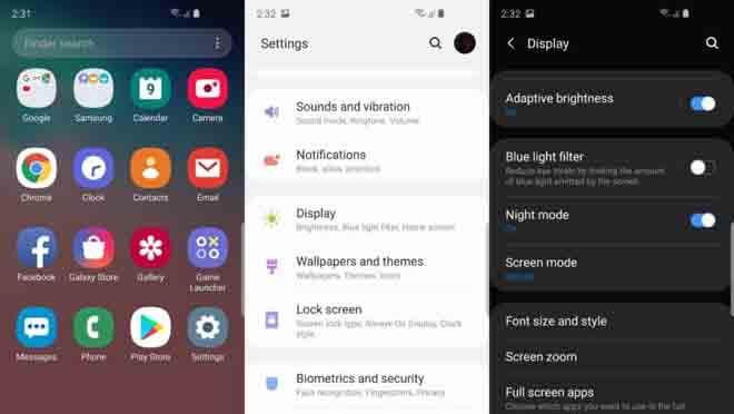 Mengaktifkan Dark Mode Samsung
