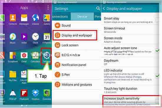 Atur Sensitivitas Layar Samsung