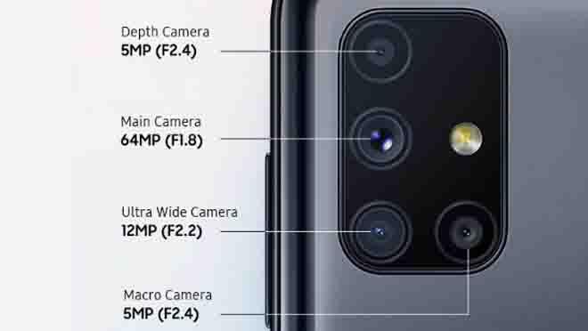 Kamera Samsung Galaxy M51