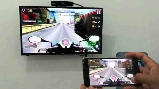 Menghubungkan HP Samsung ke TV