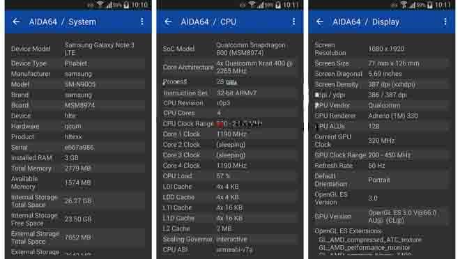 Cek RAM Samsung AIDA64