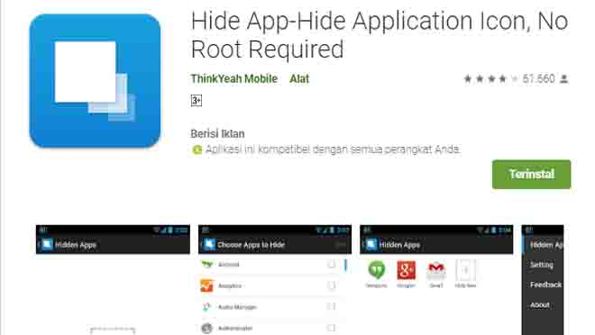 Menyembunyikan Aplikasi Samsung