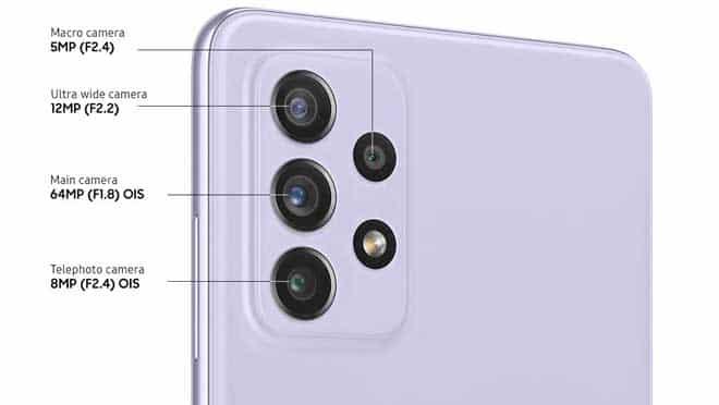 Kamera Samsung A72